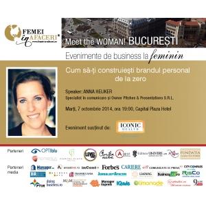 brandul personal. Cum sa-ti construiesti brandul personal de la zero cu Anna Heijker, speaker la Meet the WOMAN!