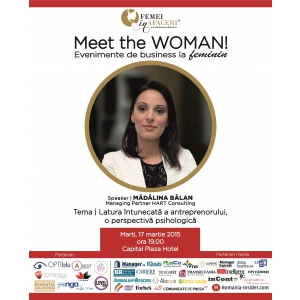 Madalina Uceanu. Madalina Balan, Managing Partner HART Consulting, speaker la Meet the WOMAN!