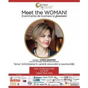 Sonia Nastase, Country Manager Nespresso Romania, este speakerul evenimentului Meet the WOMAN!