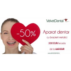 aparat dentar invizibil. Visezi la un aparat dentar? In luna februarie, clinica stomatologica Velvet Dental te ajuta sa-l ai!