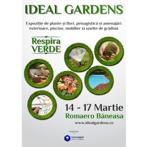 horticultura. IDEAL GARDENS, expozitie dedicata sectorului verde, 14 – 17 martie