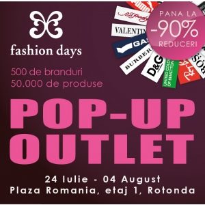 Parmalat.  Reduceri de pana la 90% in primul Pop-Up Outlet Fashion Days