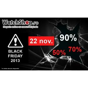 22 Noiembrie,  Black Friday 2013: ceasuri originale de la WatchShop.ro!