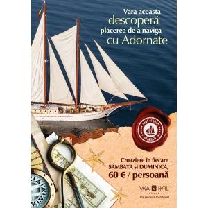 Din acest weekend incep croazierele pe Marea Neagra cu velierul Adornate