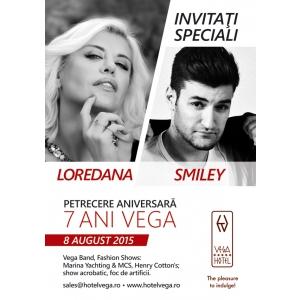 Spectacol extraordinar in Mamaia cu Smiley si Loredana la gala aniversara a Hotelului Vega