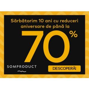 10 ani de SomProduct, sărbătoriți cu discounturi de până la 70%!