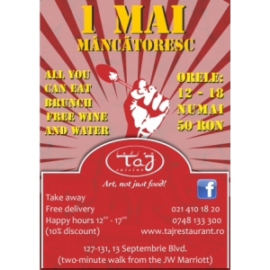 1 Mai Mancatoresc, la Taj Restaurant!
