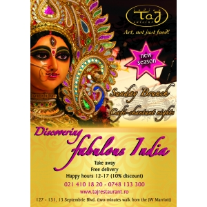 discovering fabulos India. Discover Fabulos India in noul sezon la Taj Restaurant!