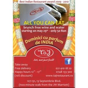 Duminici cu parfum de India la Taj Restaurant!