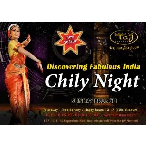 Fish Chily Night, Sambata, 30 Martie, la Taj Restaurant!