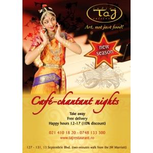 cafe chantant. O noua editie Cafe Chantant,la Taj Restaurant alaturi de Maestrul Sebastian Papaiani!