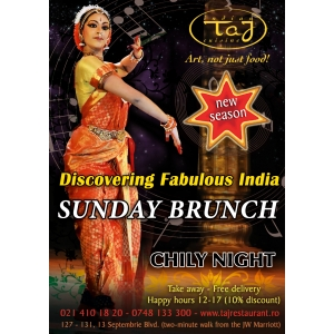 "SMART Sunday Brunch, cu "" VEDETE"" culinare la Taj Restaurant!"