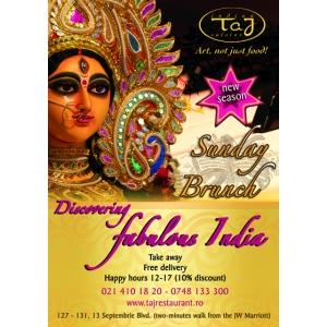 Summer Brunch, duminica 22 Iulie la Taj Restaurant!