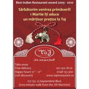 cadou martisor.  Vom sarbatori  la Taj Restaurant  Primavara ...Martisorul...Femeia...
