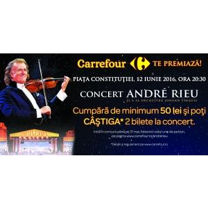 titanic vals. Carrefour pune în joc 116 invitaţii duble la concertul extraodinar al regelui valsului, André Rieu, cu Orchestra Johann Strauss