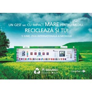 """Carrefour sarbătoreşte Ziua Mondială a Mediului, lansând campania  """"Convinge-ţi prietenii să recicleze""""!"""