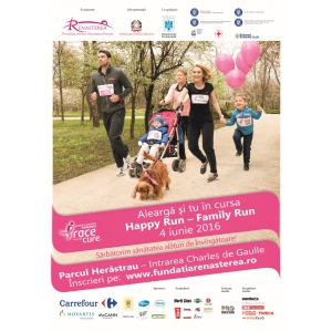 """campania de lupta impotriva cancerului la san. Carrefour se alătură crosului """"Happy Run - Race for the Cure Romania"""", o acțiune pentru prevenţia și lupta împotriva cancerului de sân"""