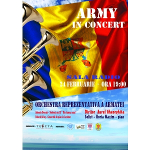 Army in Concert. Army in Concert  la Sala Radio in 24 Februarie,  ora 19:00