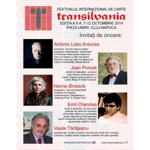 antonio lobo antunes. Invitaţi de seamă la Festivalul Internaţional de Carte Transilvania 2014