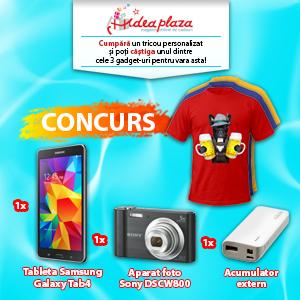 Concurs – Cumpara un tricou personalizat si castiga 3 gadget-uri