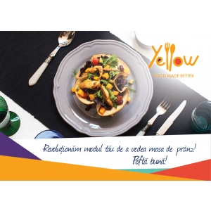yellow menu. Conceptul de fast premium food delivery ajunge în România! Comandă cu Yellow.Menu preparate a la carte pentru un prânz de 5 stele