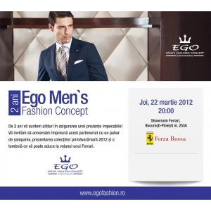ferrari. Ego Men`s Fashion Concept- aniversare cu masini Ferrari, butoni de 50.000 de euro si tesaturi pretioase