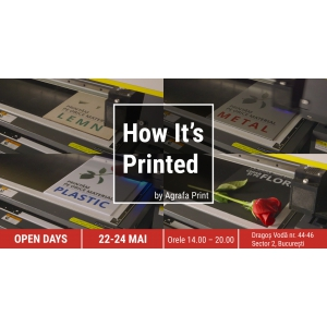 [Video] Agrafa organizează în București un eveniment inedit: Open Days -  How it's Printed